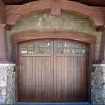 Stain Grade Wood Carriage Door